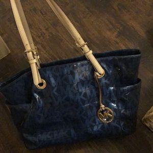 Blue Michael kors work bag